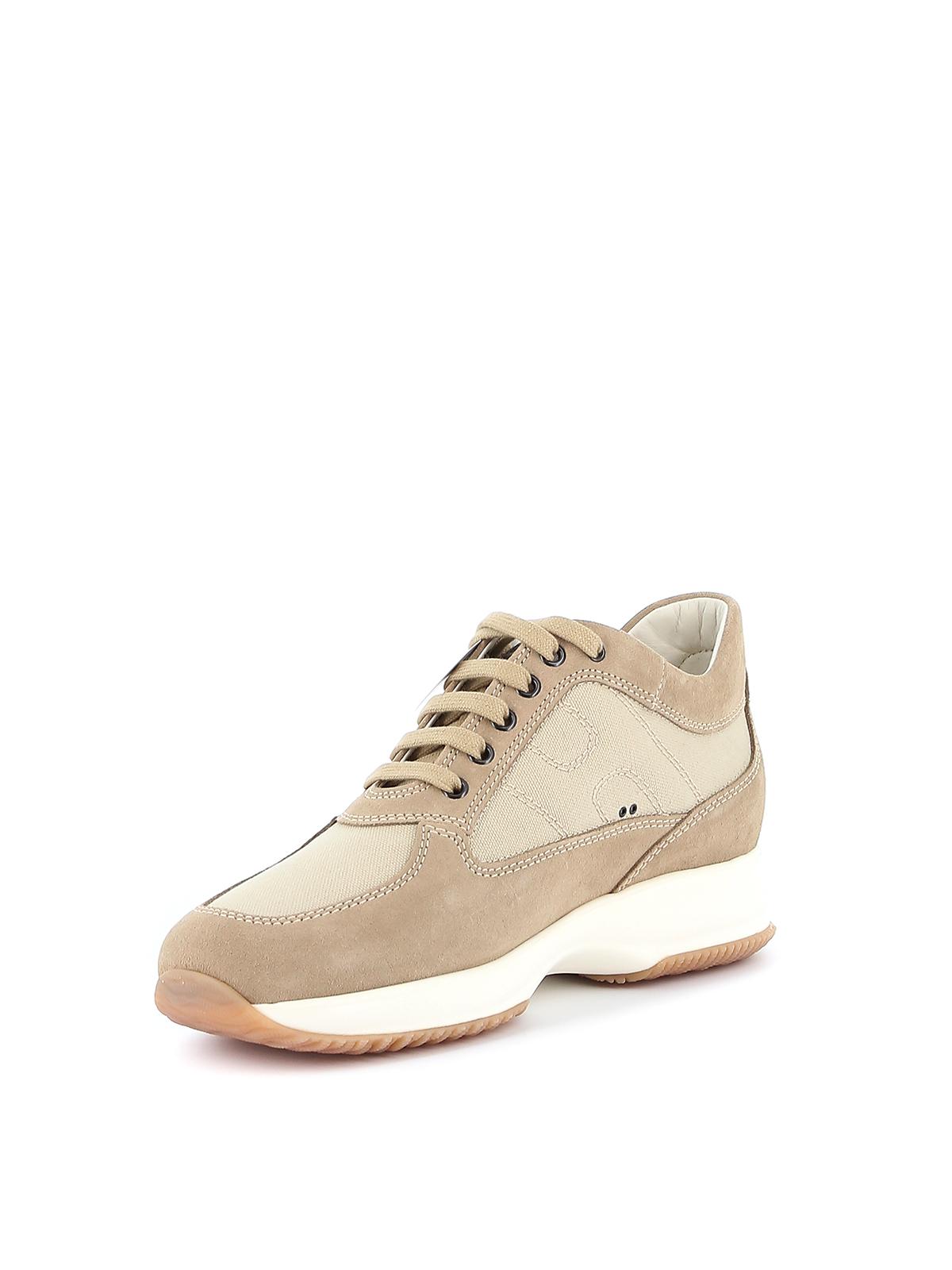 Sneakers Hogan - Interactive in camoscio e tela - HXM00N00E108O6C609