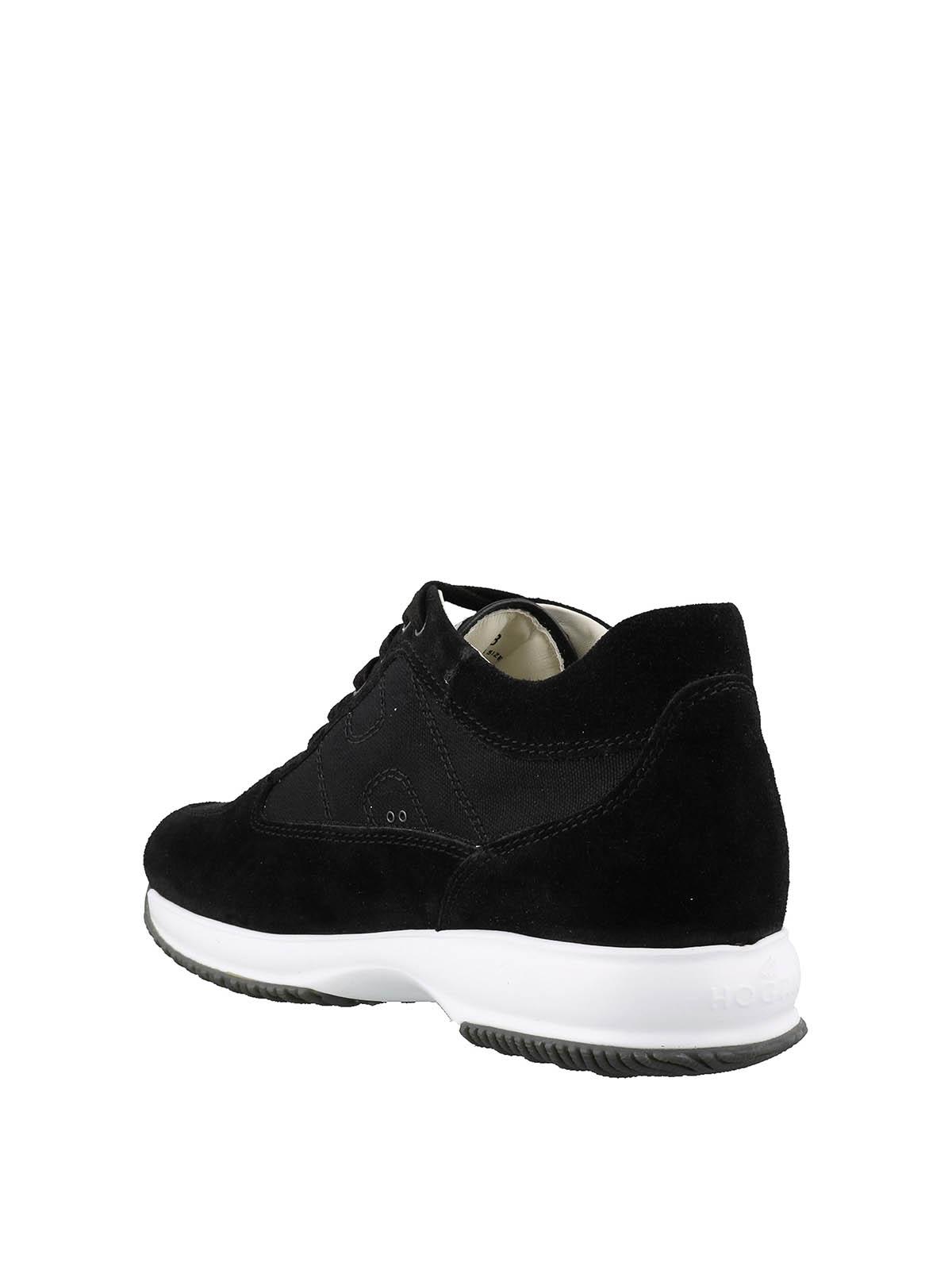 Sneakers Hogan - Interactive in camoscio e tela - HXM00N00E108O6B999