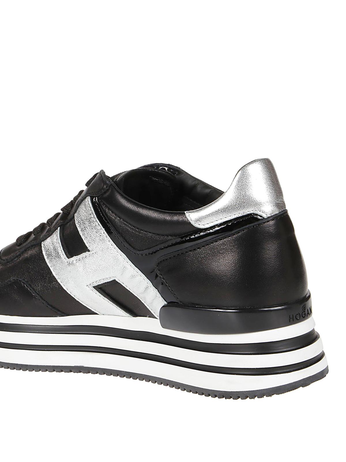 Hogan - Maxi H222 black sneakers - trainers - HXW4830CB80M5B0353
