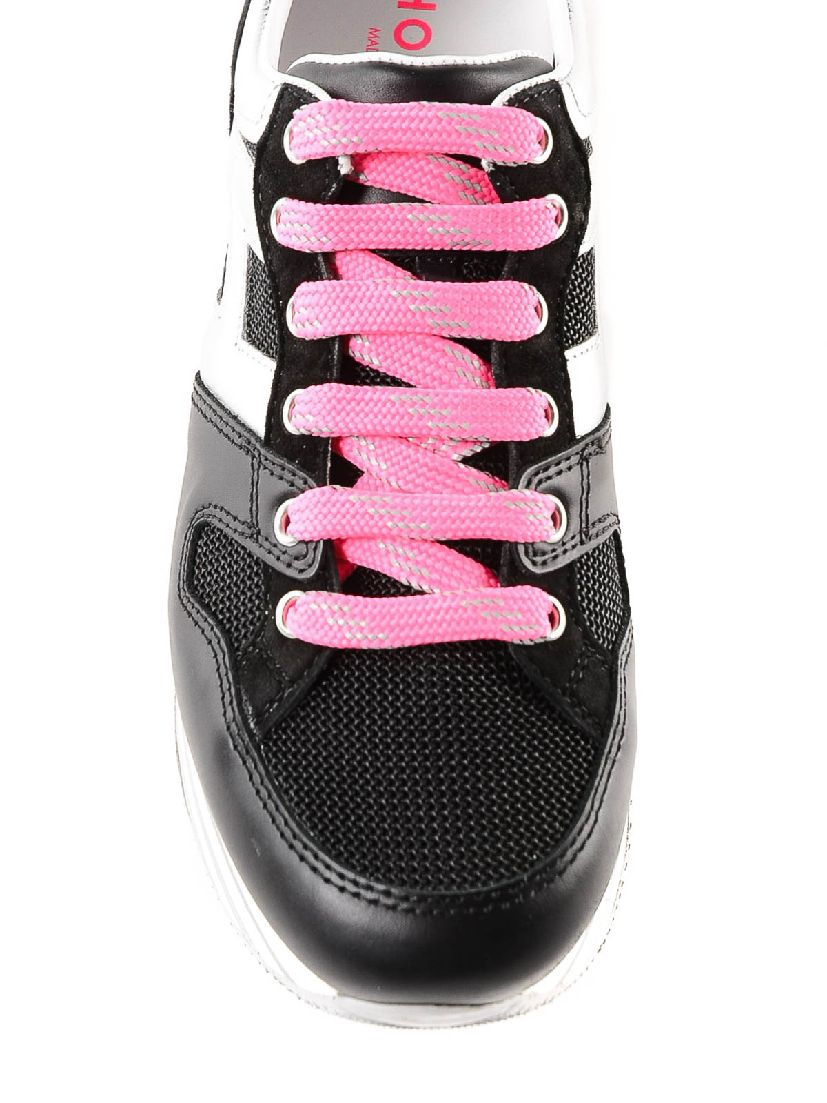 8565bd46aad iKRIX HOGAN  trainers - Maxi H222 black striped platform sneakers