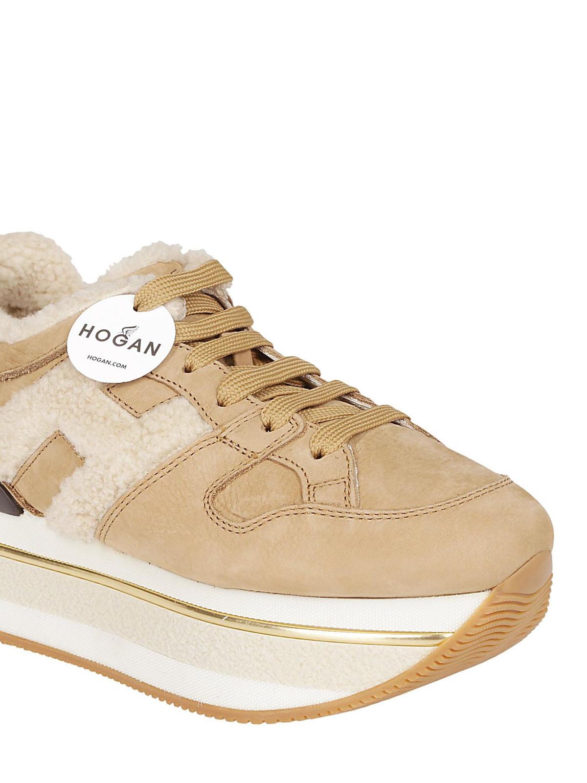 Trainers Hogan - Maxi H222 nubuck sneakers - HXW3940AQ70HTA0XFI