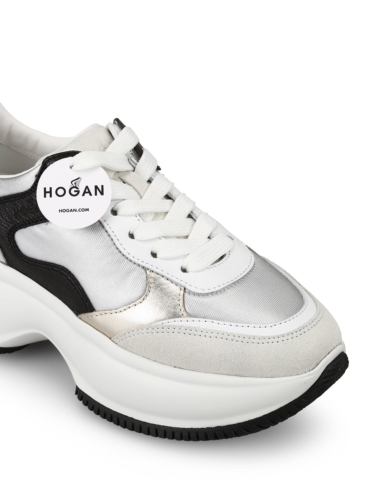 Trainers Hogan - Maxi I Active silver and red sneakers ...