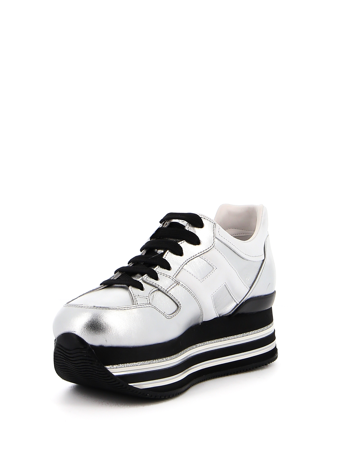 Trainers Hogan - Maxi Platform H222 leather sneakers ...