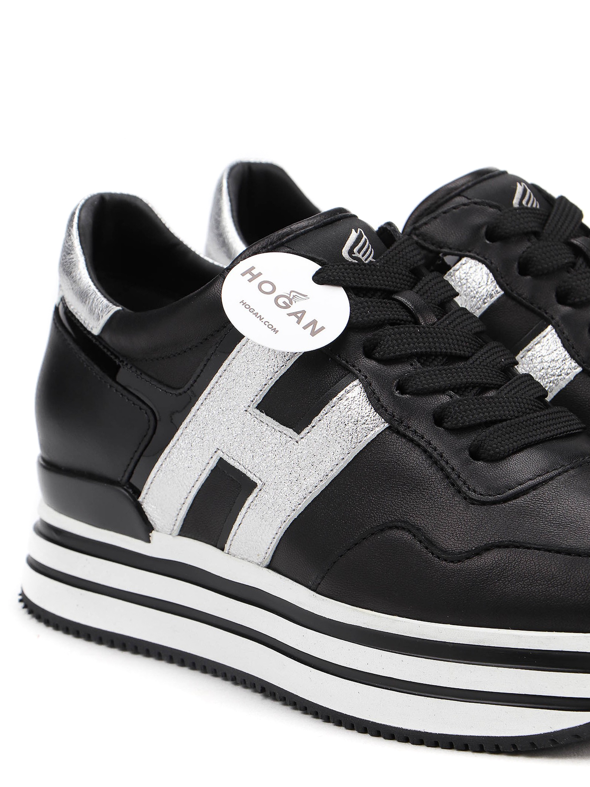 Trainers Hogan - Midi H222 sneakers with laminated inserts ...