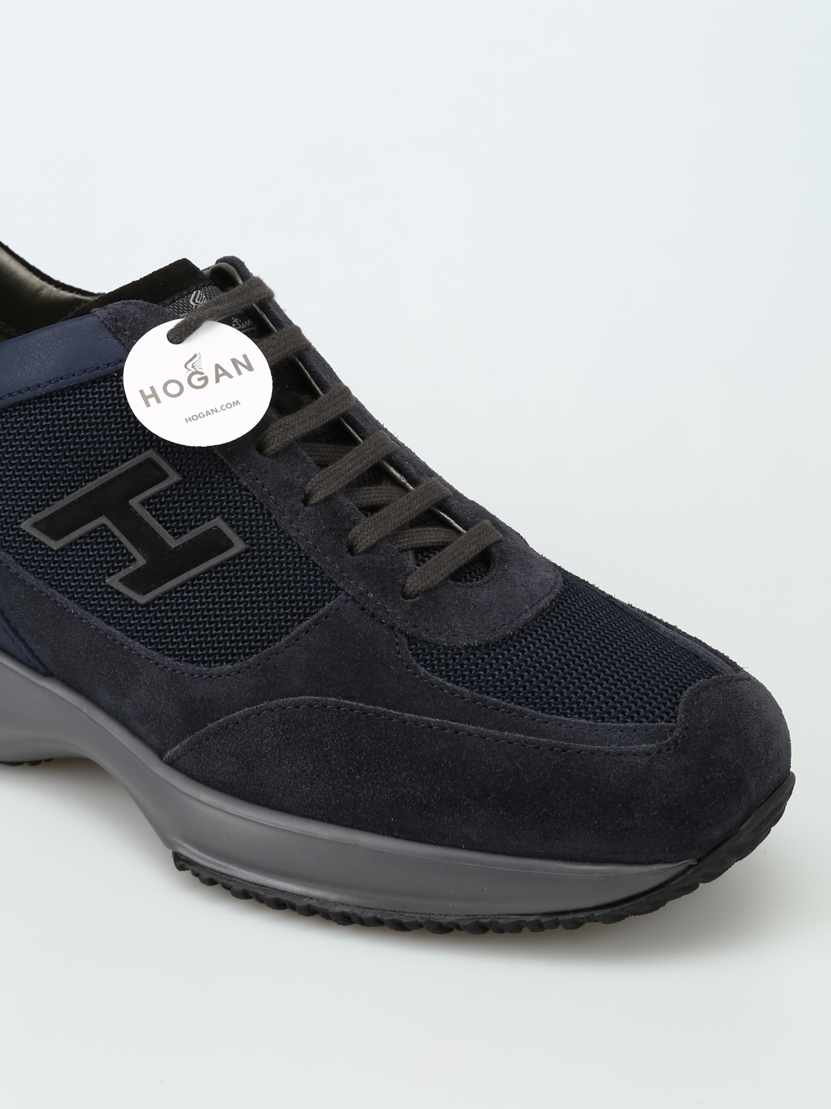 Trainers Hogan - New Interactive H Flock blue sneakers ...