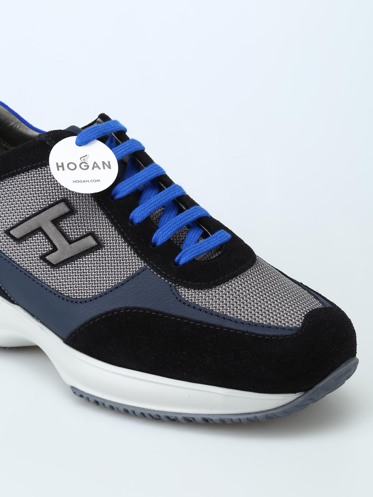 Hogan - New Interactive H Flock dark blue sneakers - trainers ...