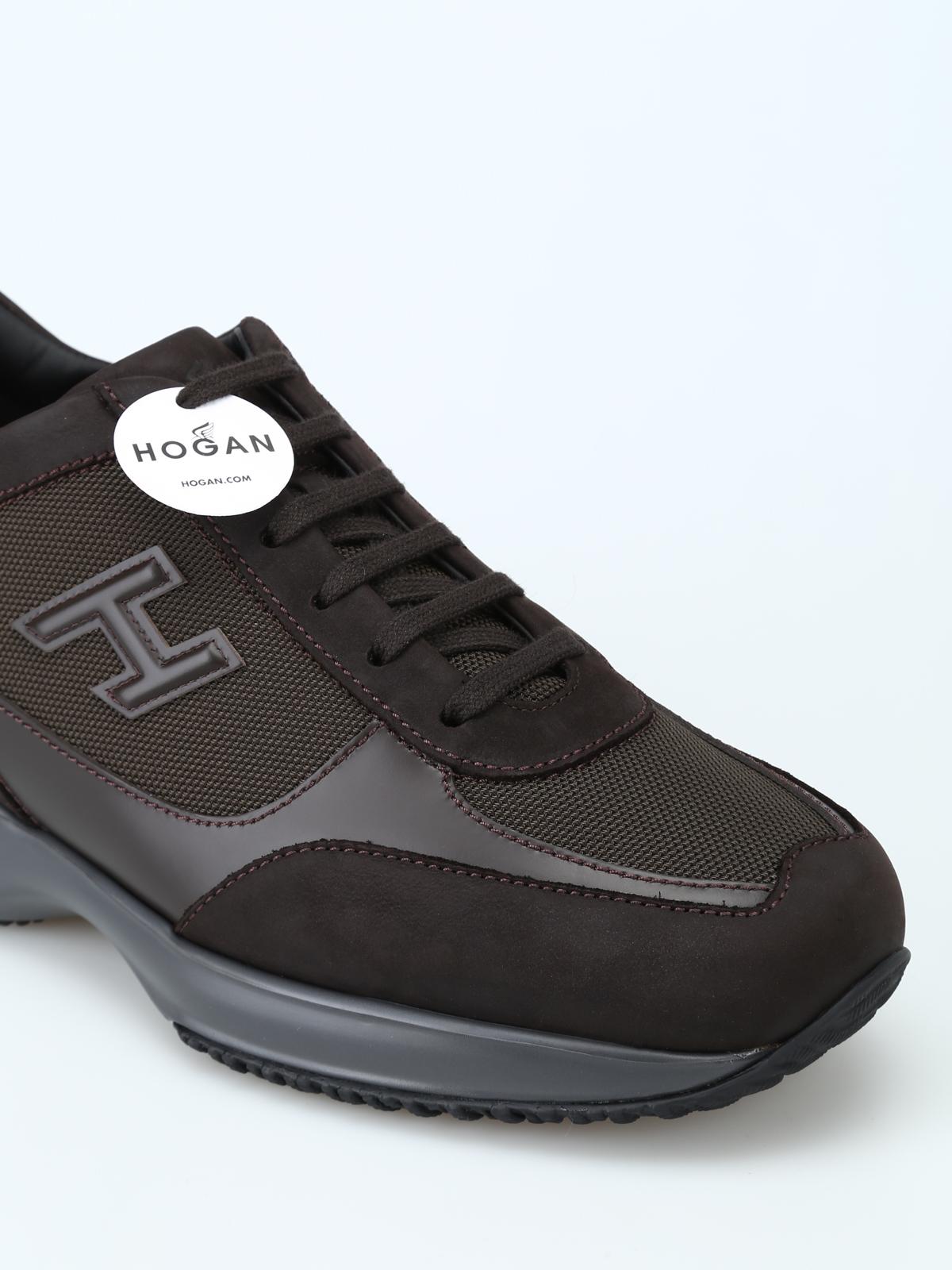 fcb3eb5cbe Hogan - New Interactive marroni in pelle e tessuto - sneakers ...