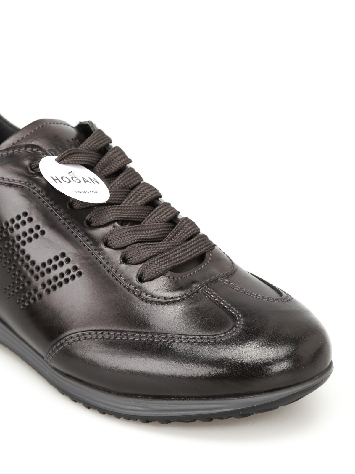 Sneakers Hogan - Sneaker Olympia H205 nere in pelle ...