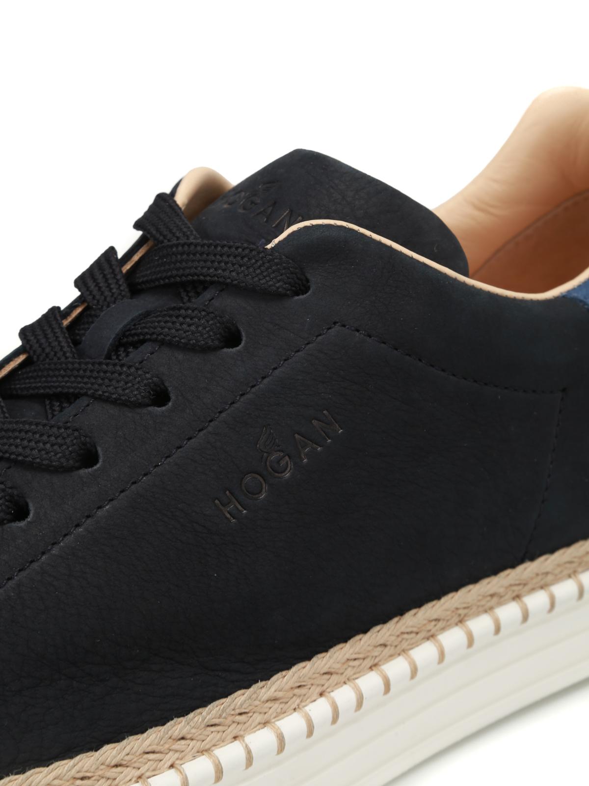 Sneakers Hogan - Sneaker R260 in pelle blu scura - HXM2600AD506RN669E