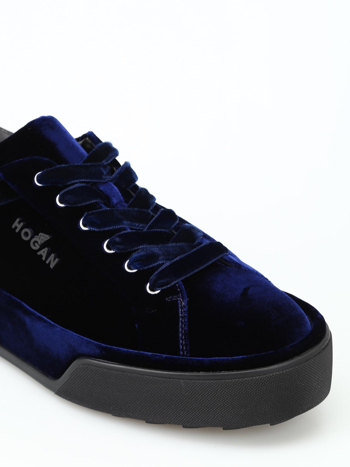 Hogan - R320 blue velvet sneakers