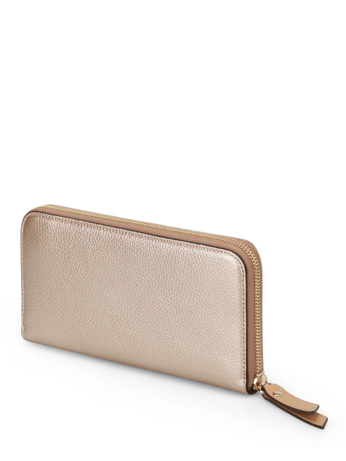 cheap for discount 6f051 32f22 Hogan - Portafoglio color oro continental - portafogli ...
