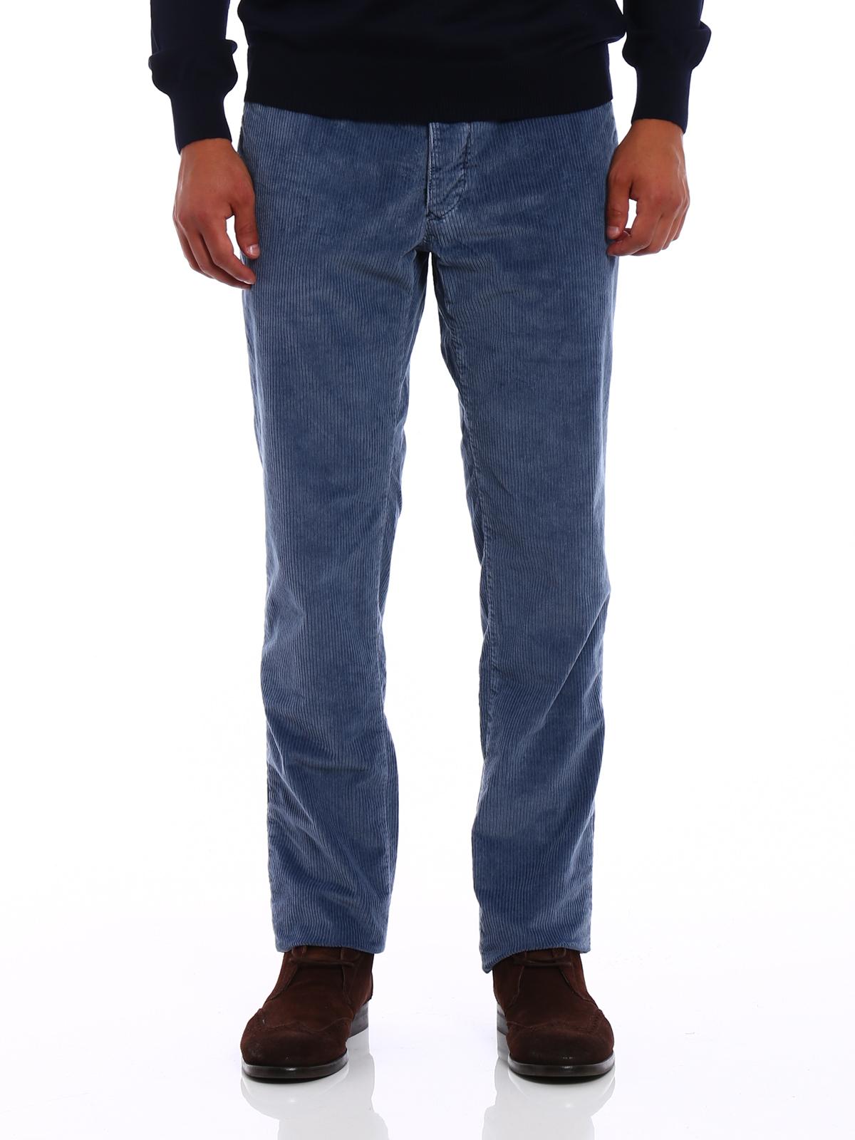 slim-fit chino trousers - Blue Incotex 9y8sO03