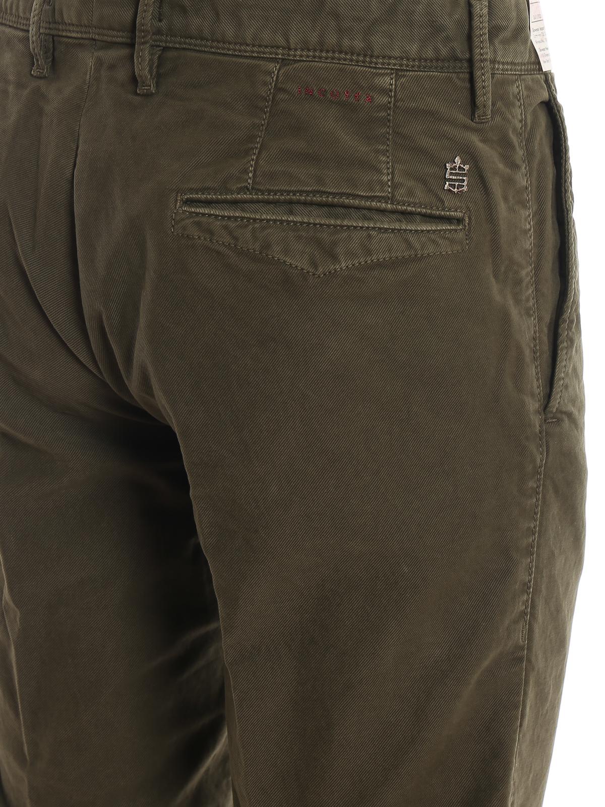 Incotex Pantaloni Tricochino slim in drill di cotone