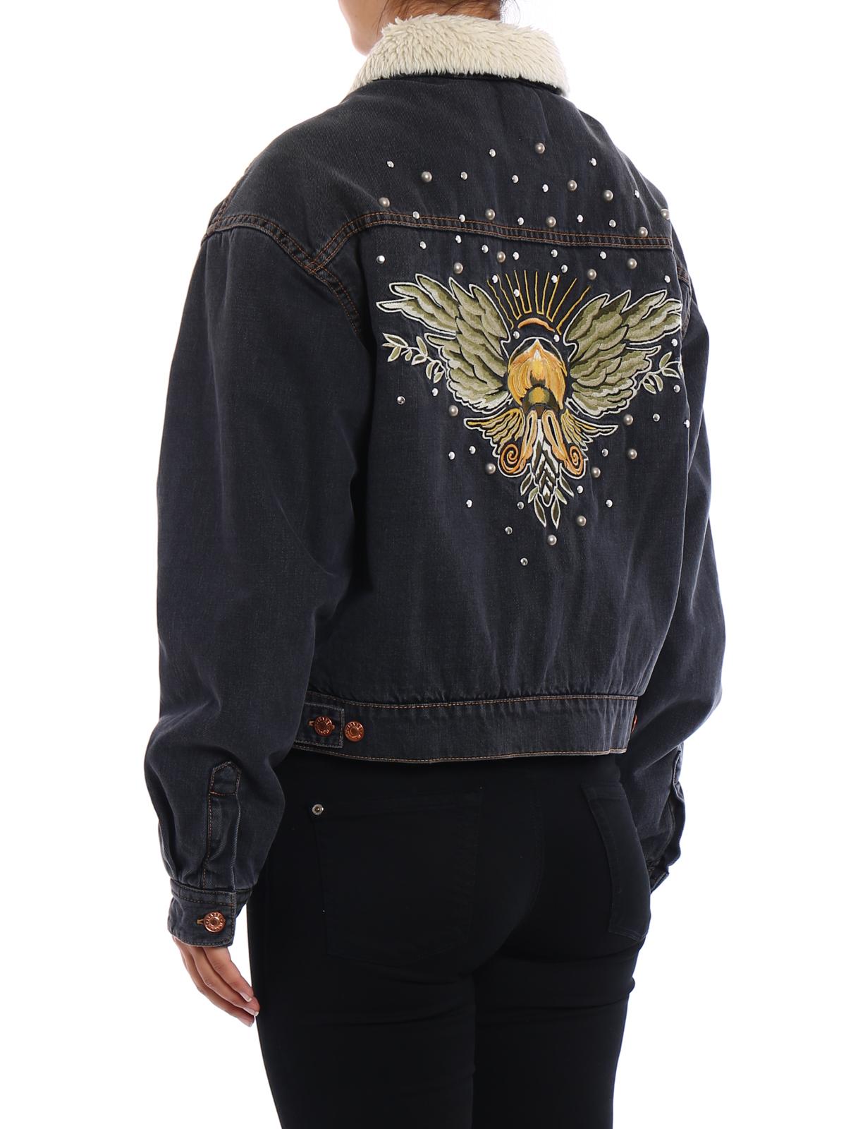 Isabel Marant Etoile Cassy Embroidered Denim Jacket