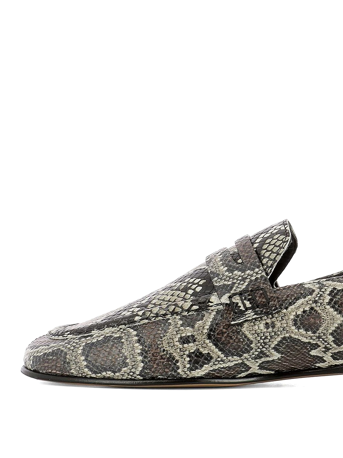 c8a92b83def iKRIX ISABEL MARANT  Loafers   Slippers - Fezzy python print leather loafers