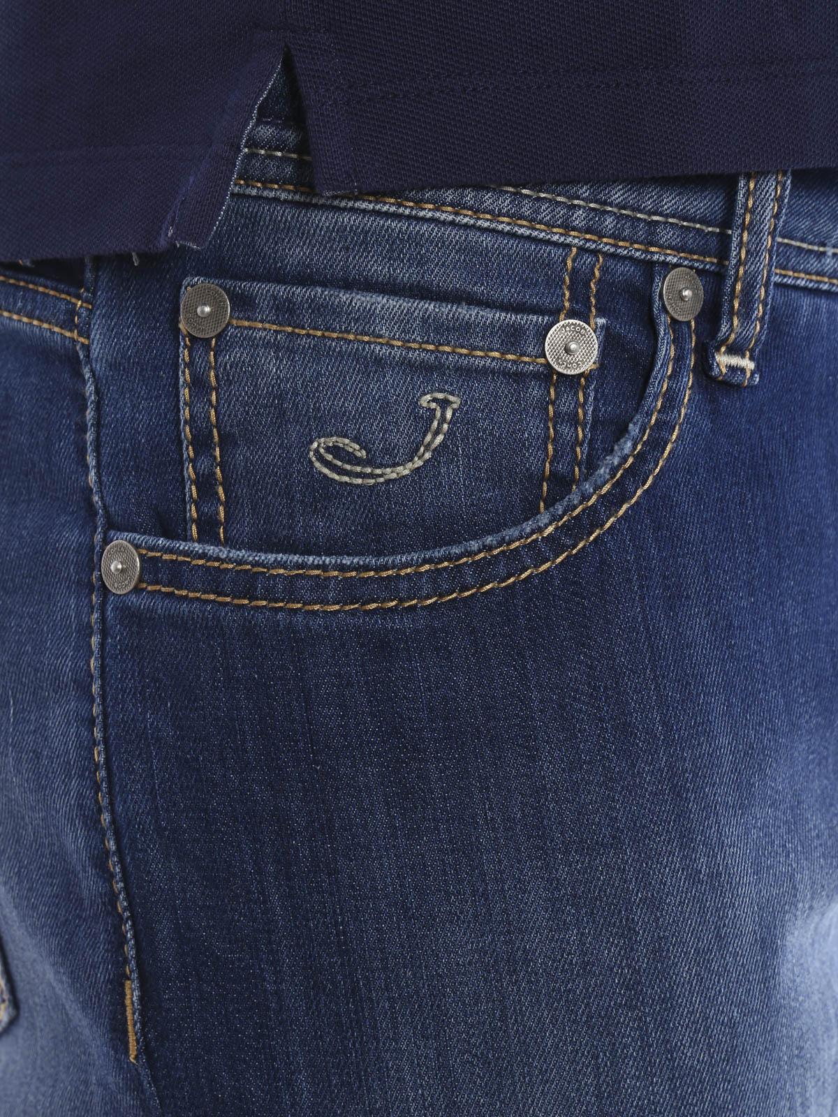 J622 qs comf jeans by jacob cohen straight leg jeans ikrix - Jacob cohen denim ...
