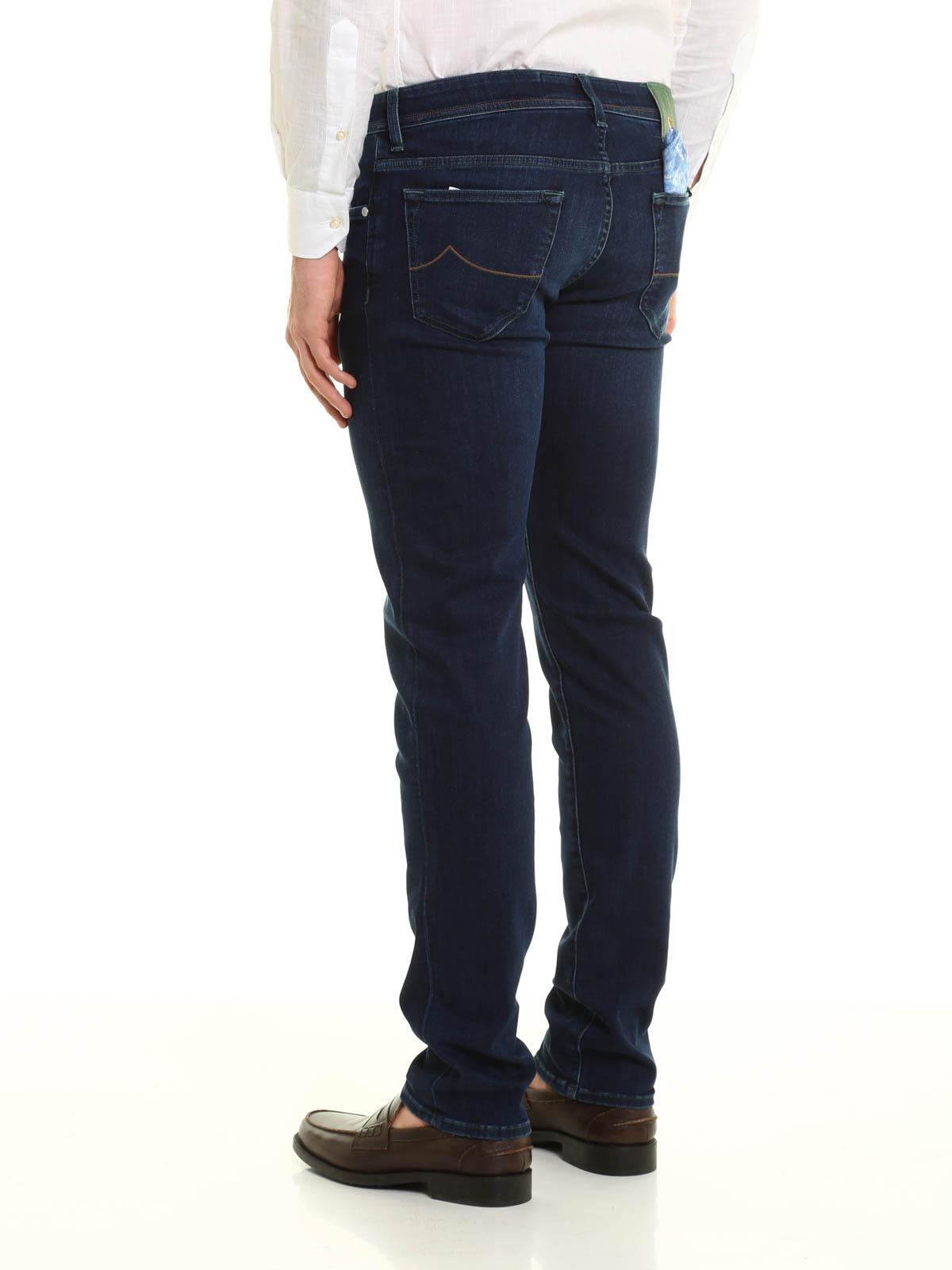 iKRIX JACOB COHEN  Jeans à jambe droite - Jean Slim Foncé Délavé Pour Homme 79535e2dd986