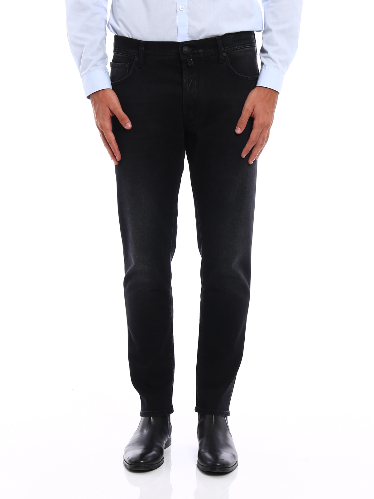 Style 656 dyed denim jeans by jacob cohen straight leg - Jacob cohen denim ...
