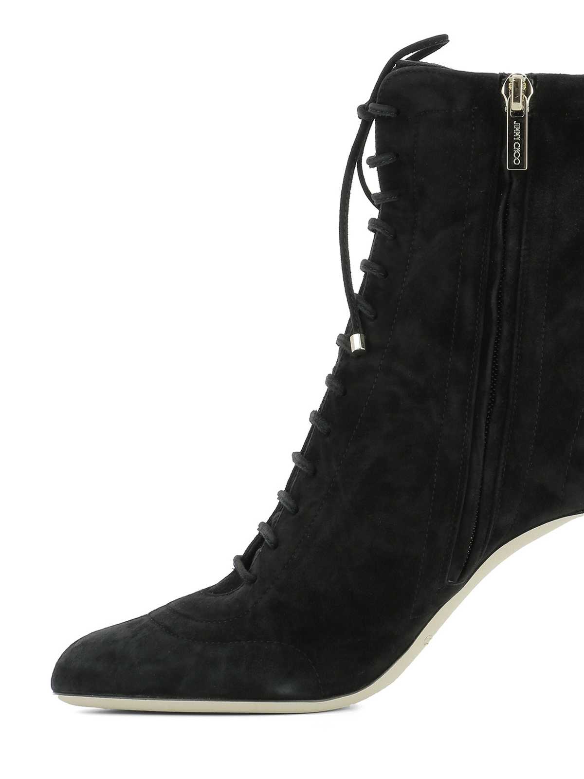 89486066c239a Jimmy Choo - Daize lace-up suede booties - ankle boots - DAIZE 85 ...