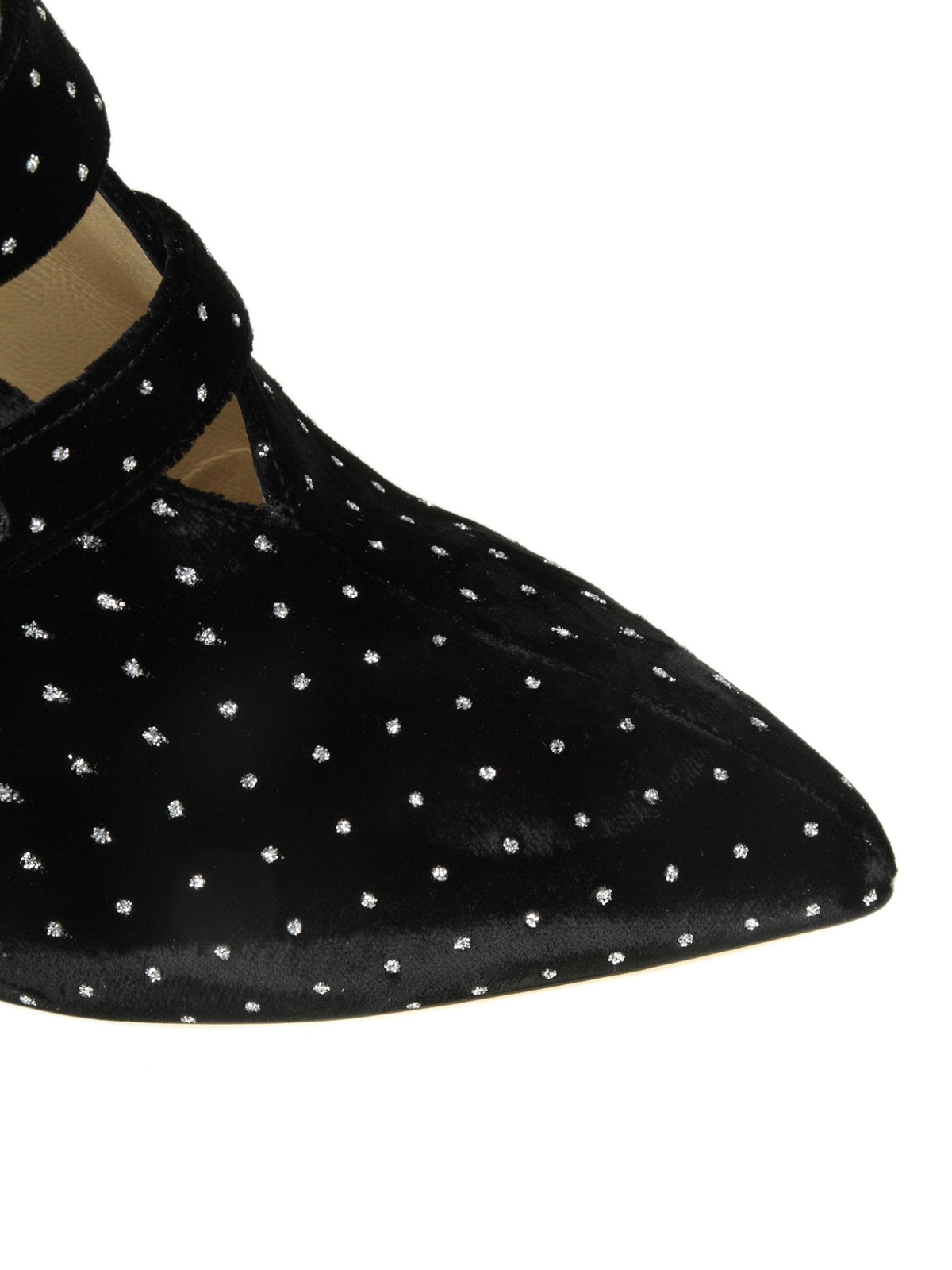 e1f82d23232 iKRIX JIMMY CHOO  ankle boots - Larissa 100 glitter spotted velvet booties