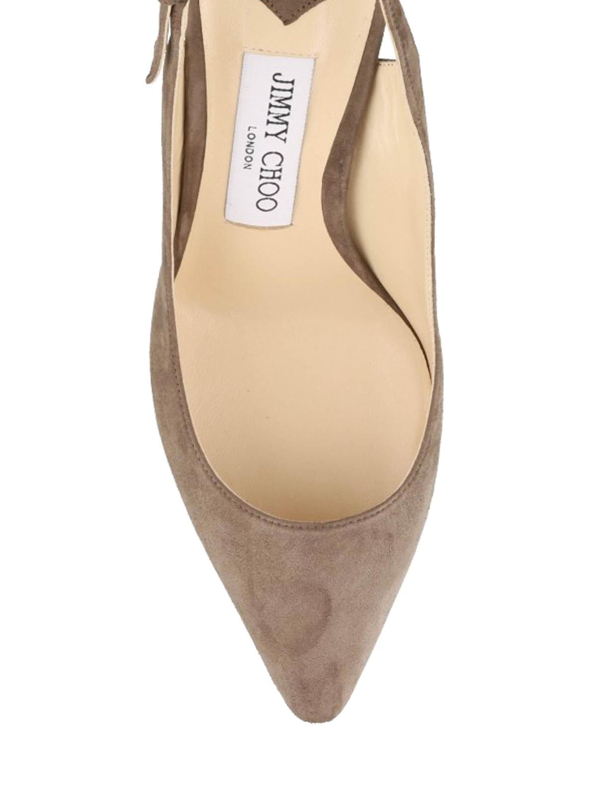 058f47cec4f iKRIX JIMMY CHOO  court shoes - Erin 85 suede slingbacks