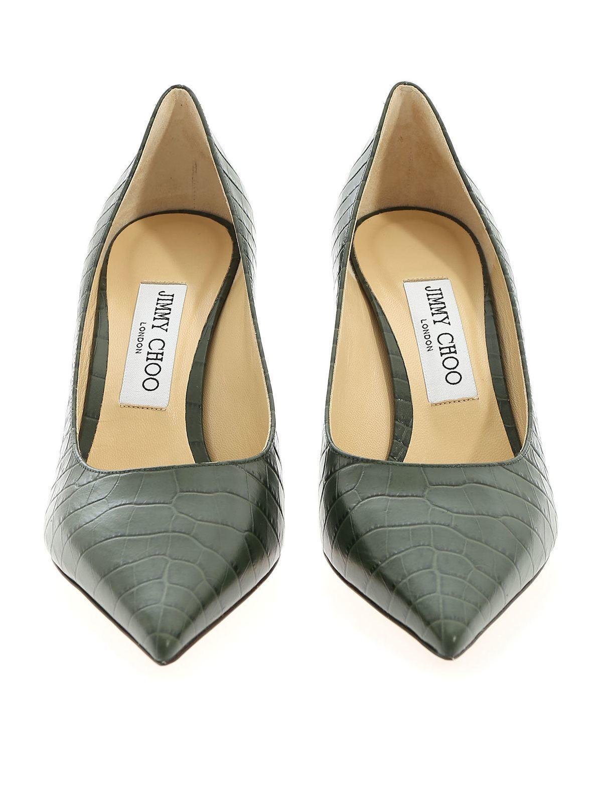 Jimmy Choo Décolleté Love 85 stampa cocco verde scarpe