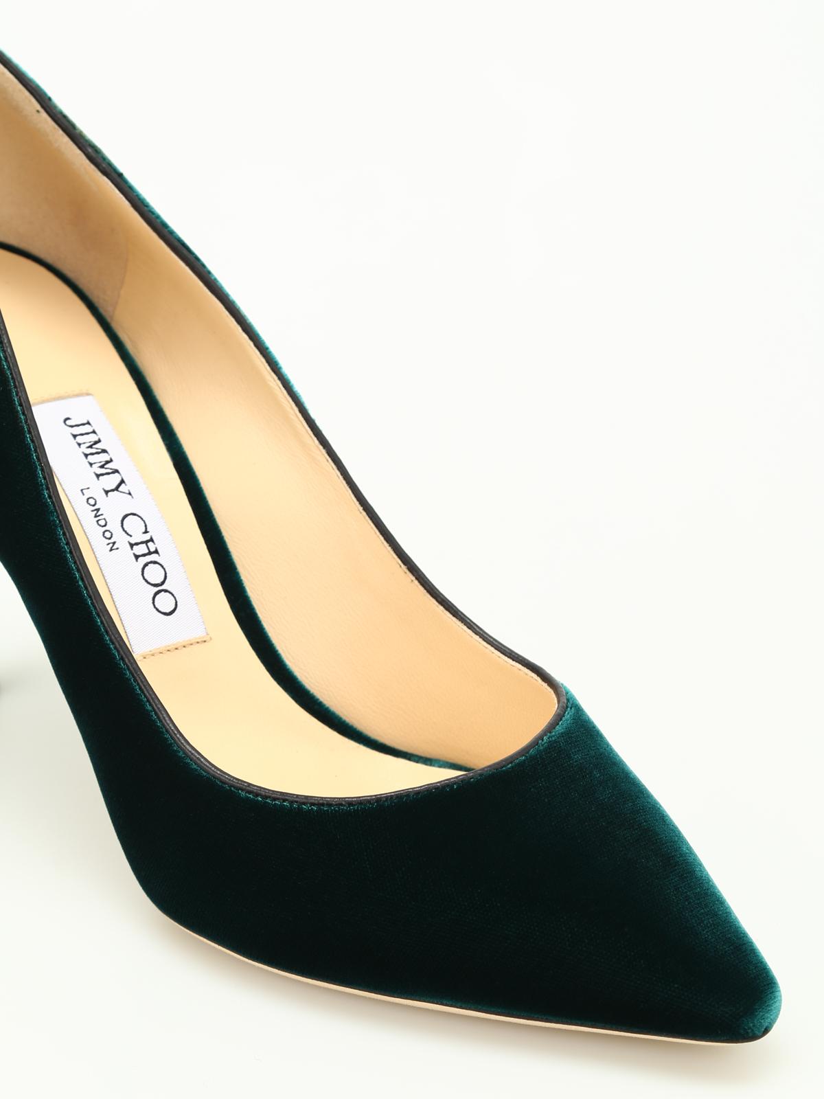 027b4455ca93 Jimmy Choo - Romy 85 velvet pumps - court shoes - ROMY 85 VEL BOTTLE ...