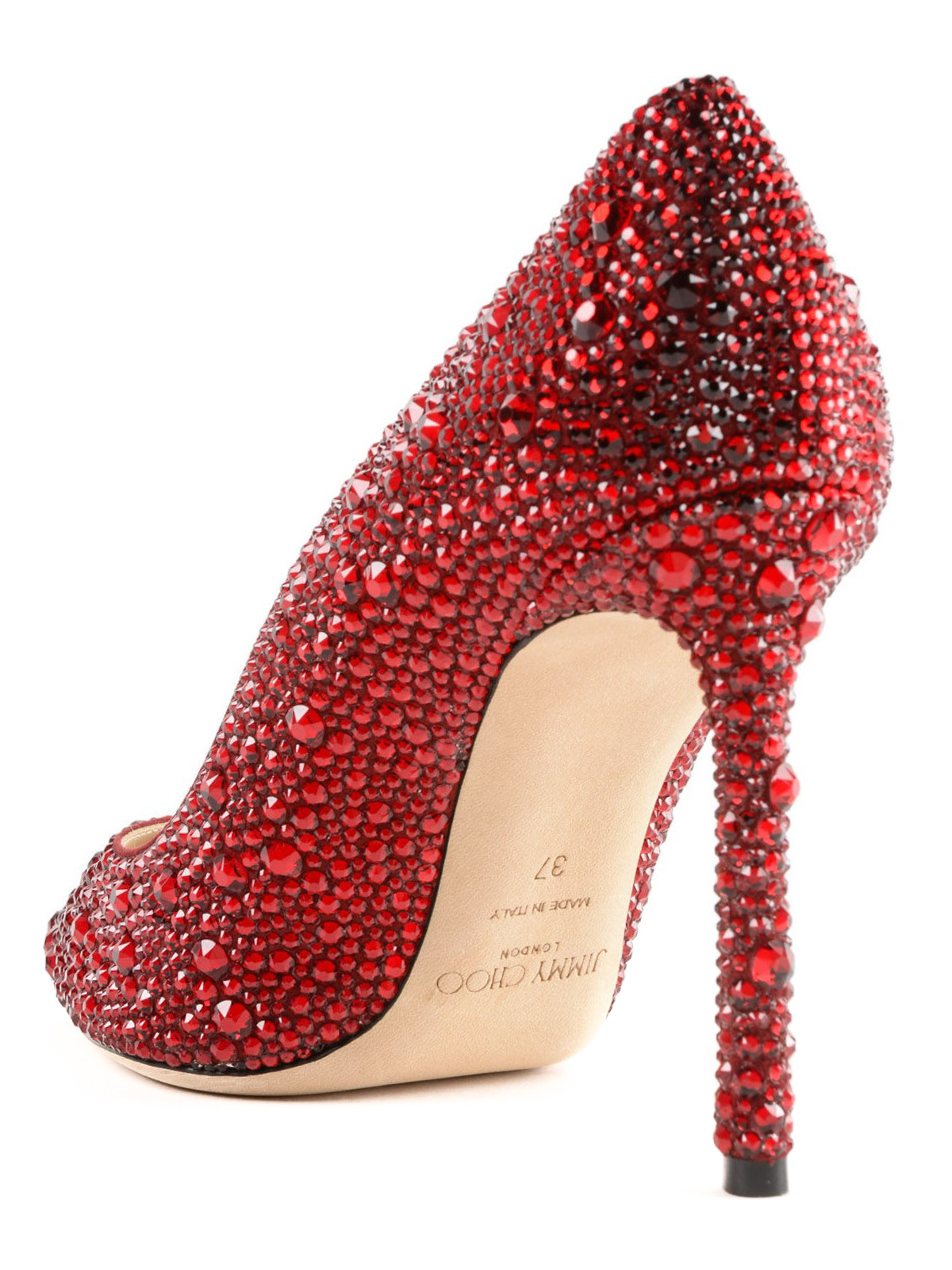 ce795ac0d39 Jimmy Choo - Romy red crystal pointy suede pumps - court shoes ...