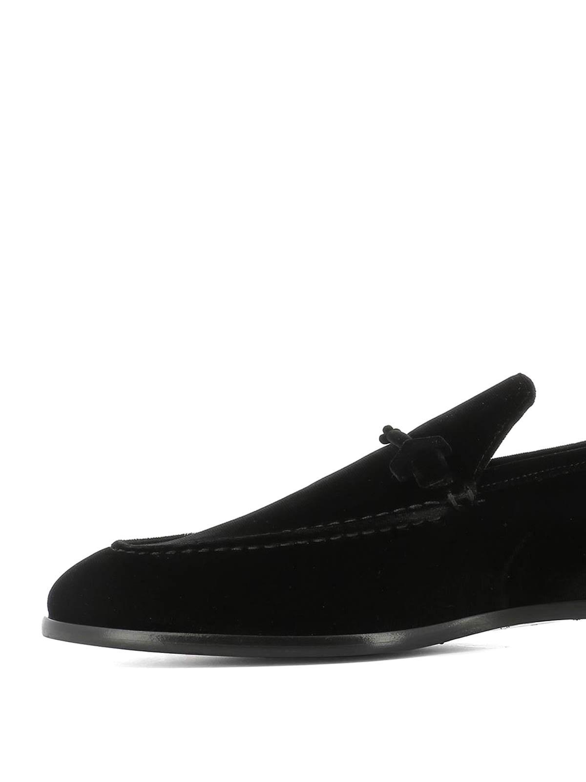 Jimmy Choo - Marti black velvet loafers