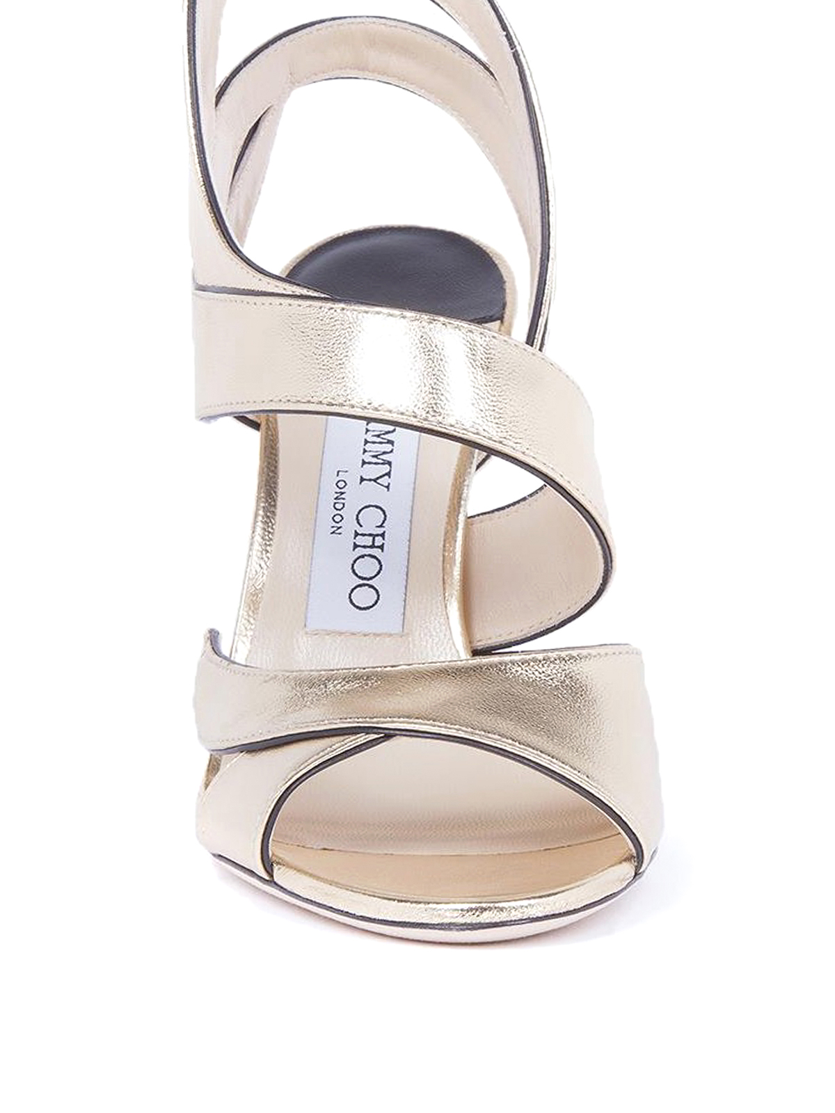 Jimmy Choo - Falcon 100 mirror leather sandals - صندل