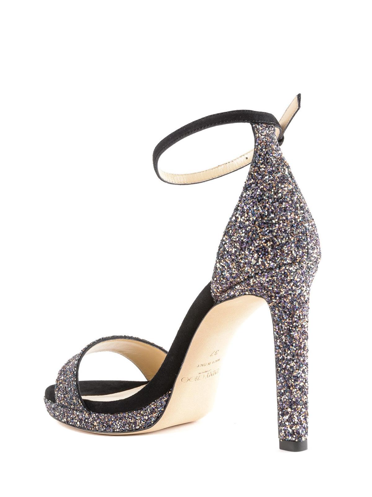 c18f7e9bf36d Jimmy Choo - Misty twilight glitter sandals - sandals - MISTY 100 ...