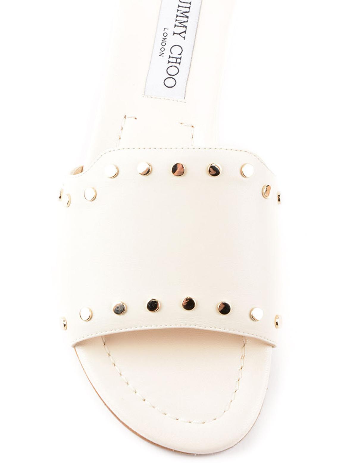 2be47bb09e4e Jimmy Choo - Nanda studded leather sliders - sandals - NANDA NWU ...