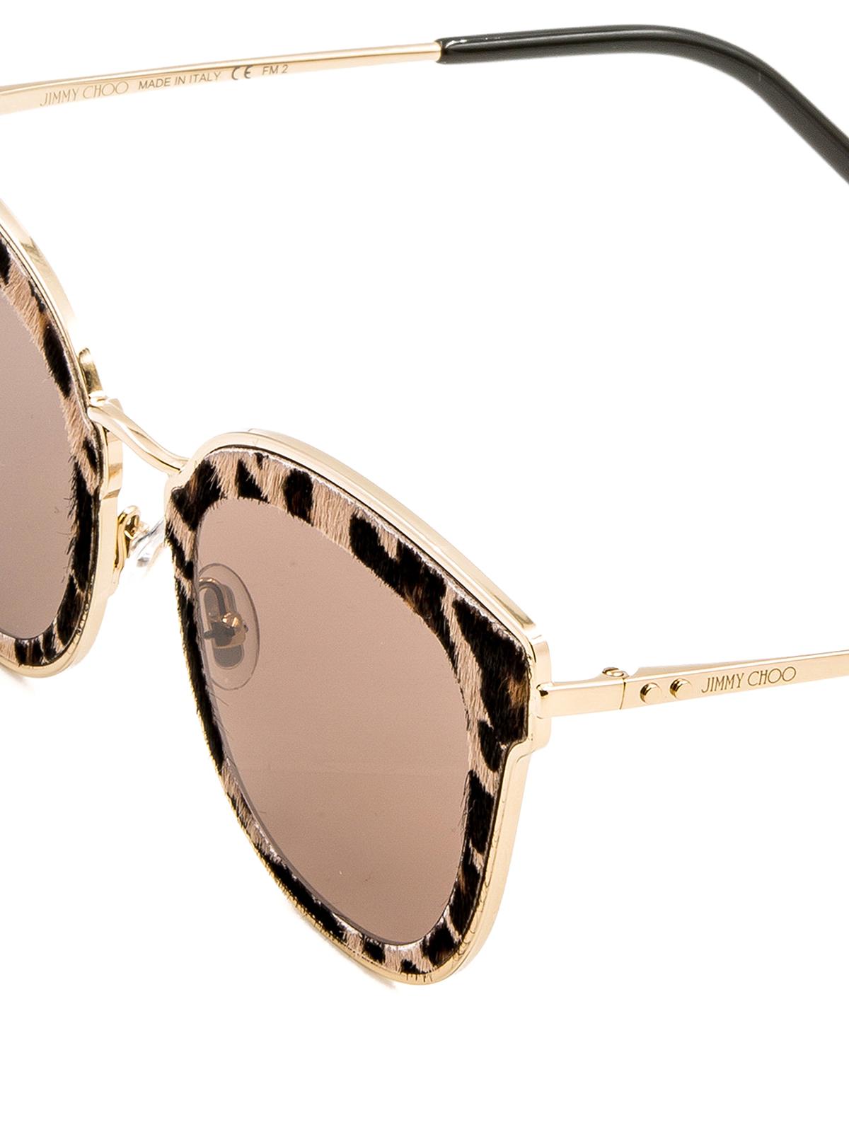 2de7c35e6c2 Jimmy Choo - Niles haircalf cat eye sunglasses - sunglasses - NILESXMG2M