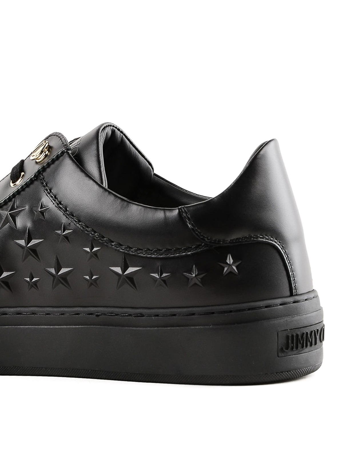 Jimmy Choo - Ace embossed star leather