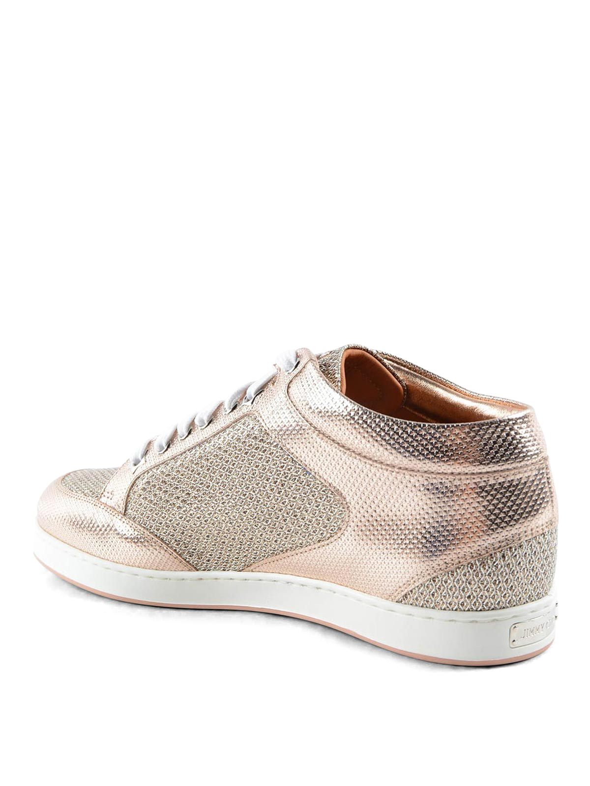 Jimmy Choo Miami Metallic And Glitter Sneakers