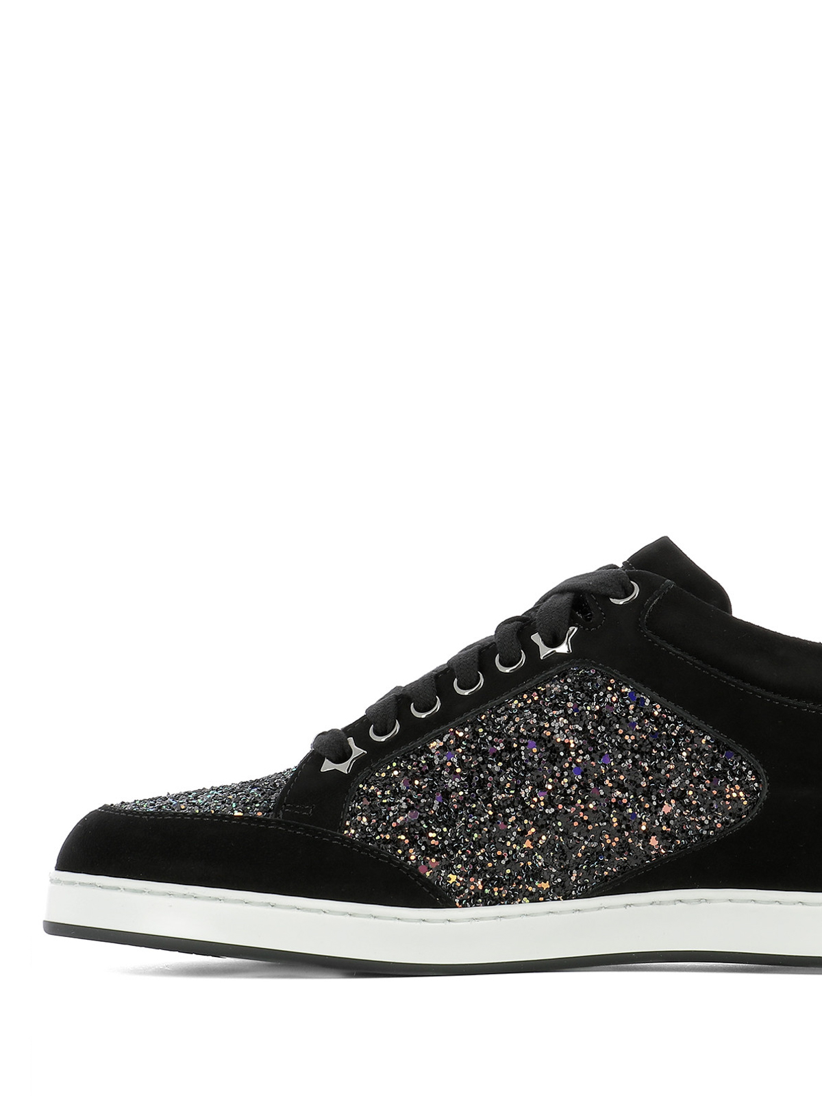 d85f16c0dbdd33 Jimmy Choo - Miami suede and glitter sneakers - trainers - MIAMI EOD ...