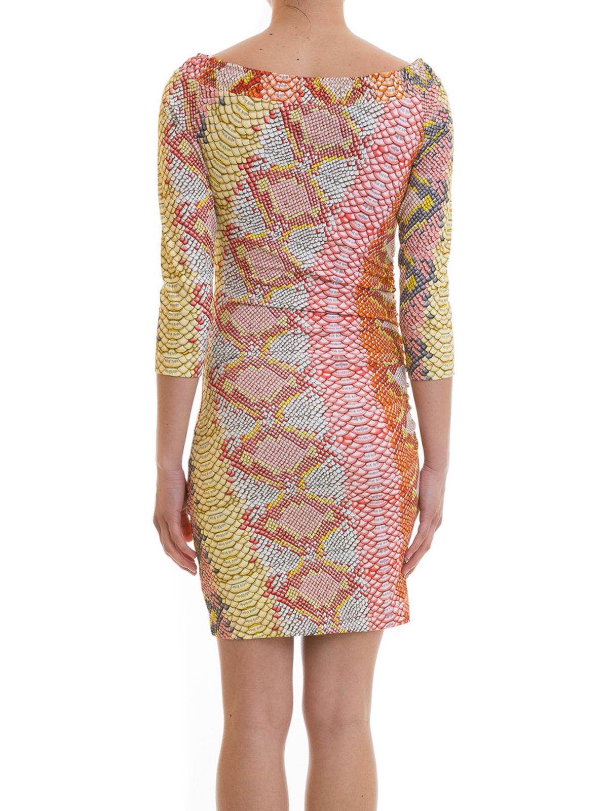 12ec03423adb3 iKRIX JUST CAVALLI: short dresses - Python print jersey dress