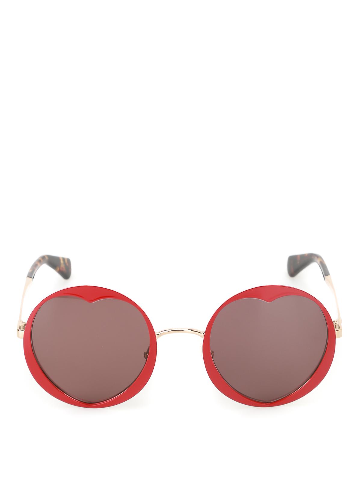 bfd4bb2f2fc6 iKRIX KATE SPADE: sunglasses - Rosaria heart-shaped red sunglasses