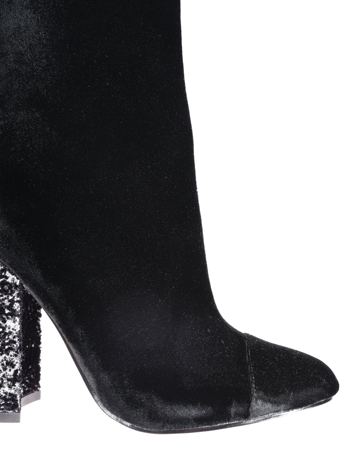 black boots with sparkle heel