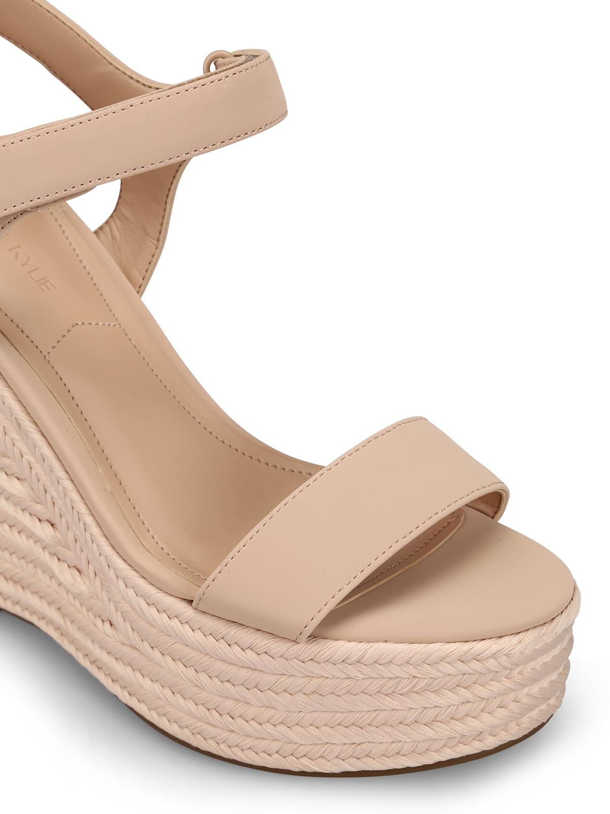 d6ec60b519 iKRIX Kendall + Kylie: sandals - Grand pink leather wedge sandals