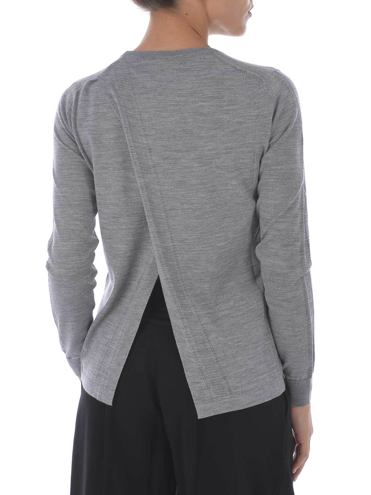 ff7df1536333 Kenzo - Pull Col Rond Gris Pour Femme - Pull col rond - F662TO620802 95