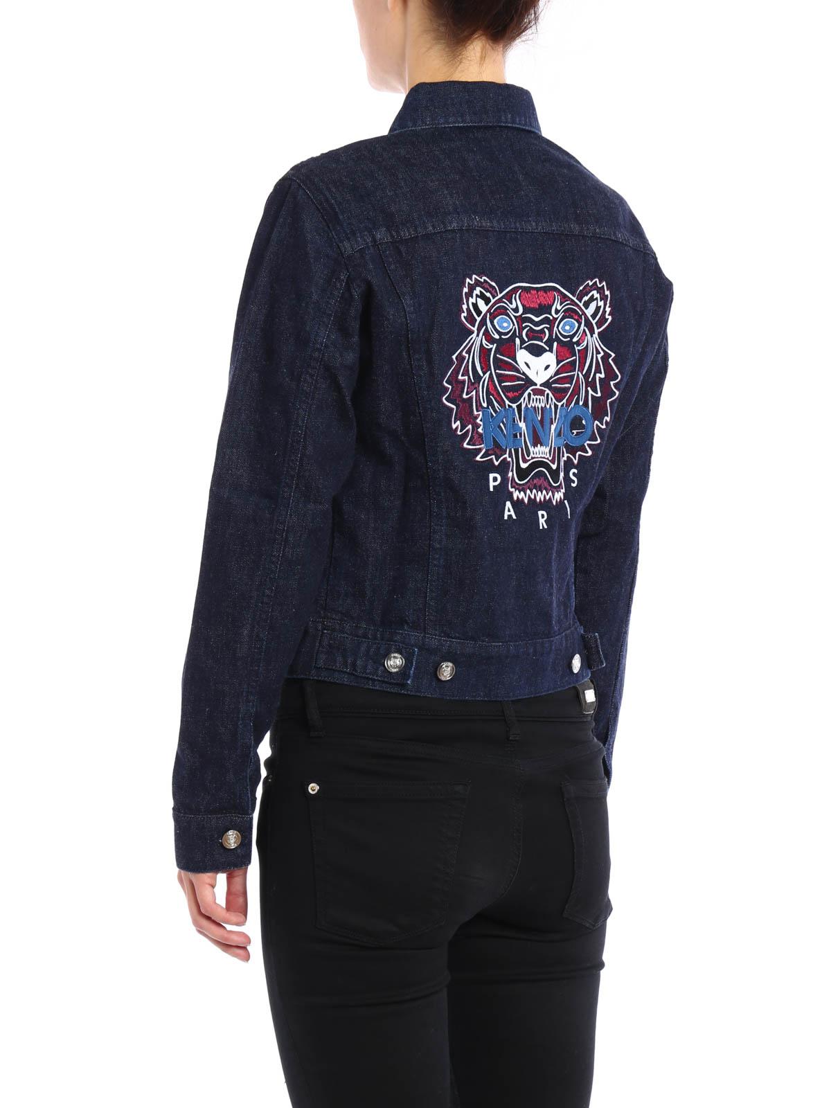 0208286d6c Kenzo - Embroidered denim jacket - denim jacket - F662BL2186ET 76