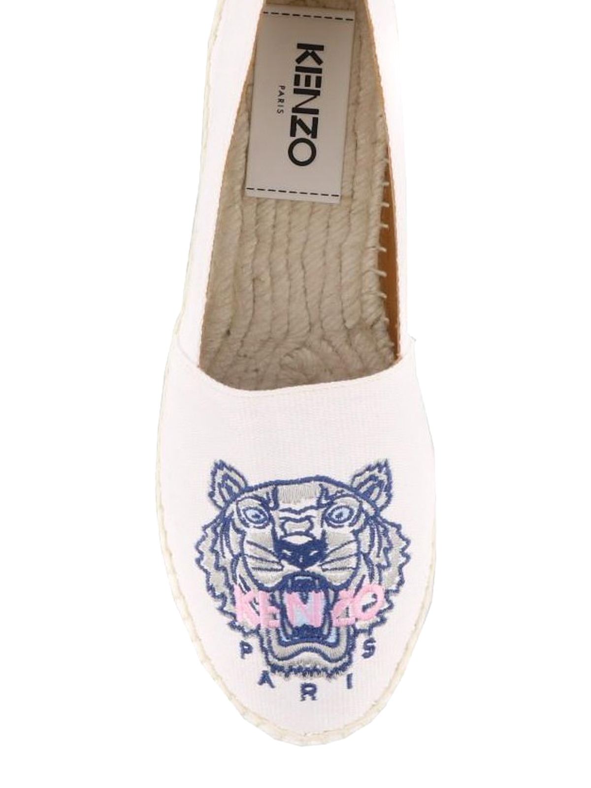 ec2b8cd3 iKRIX KENZO: espadrilles - Tiger embroidered white espadrilles