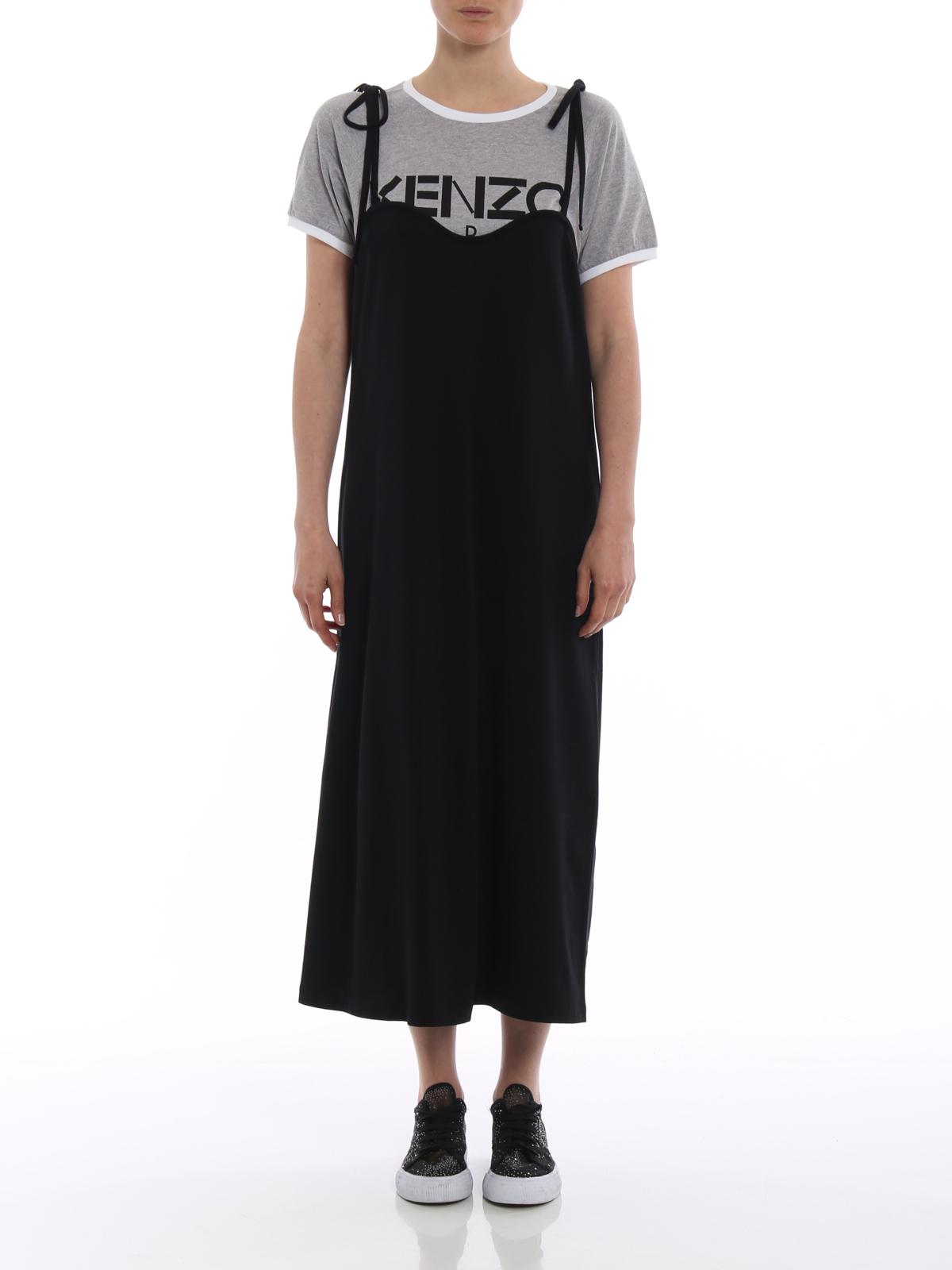 Kenzo Cotton Jersey T Shirt Dress Knee Length Dresses