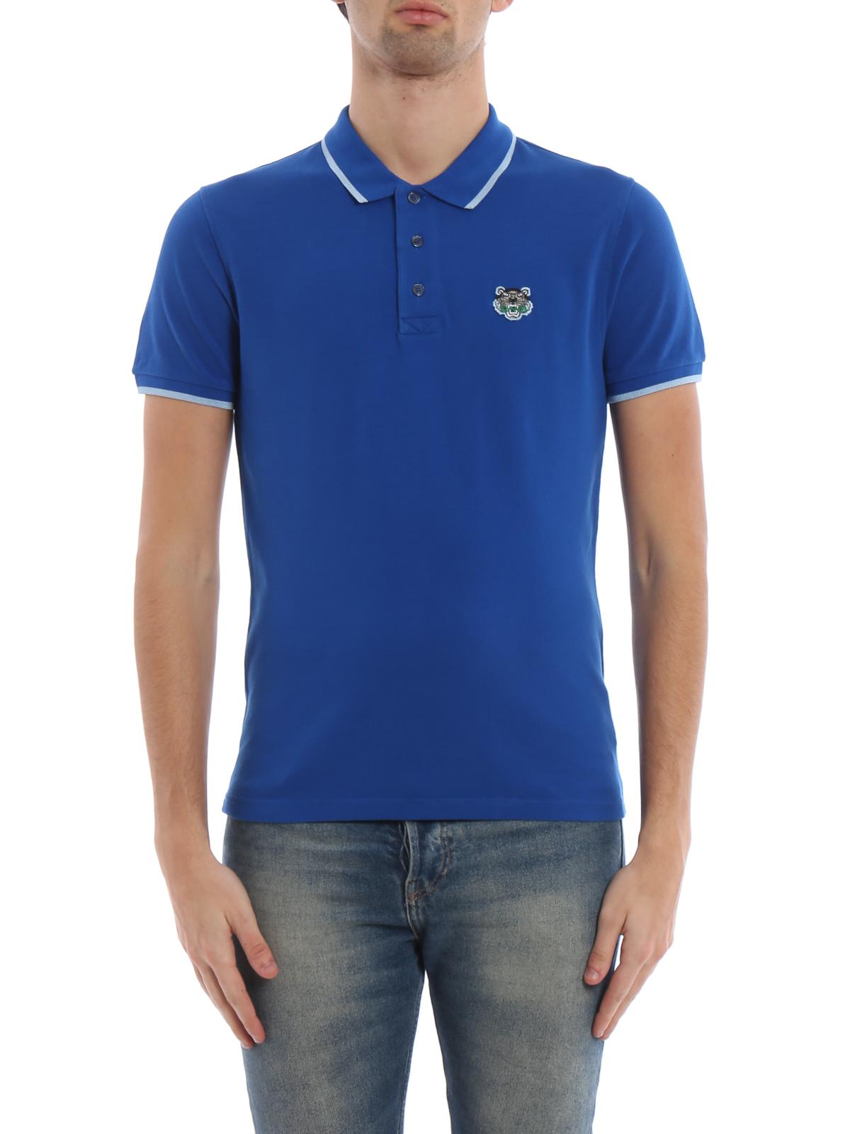 e3a92957 iKRIX KENZO: polo shirts - K Fit Tiger crest blue cotton polo shirt