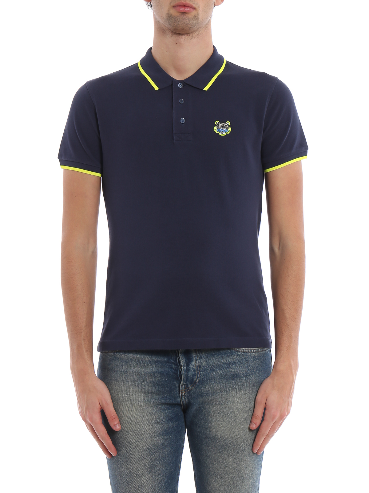 602d4c6c Kenzo - K Fit Tiger crest ink cotton polo shirt - polo shirts ...