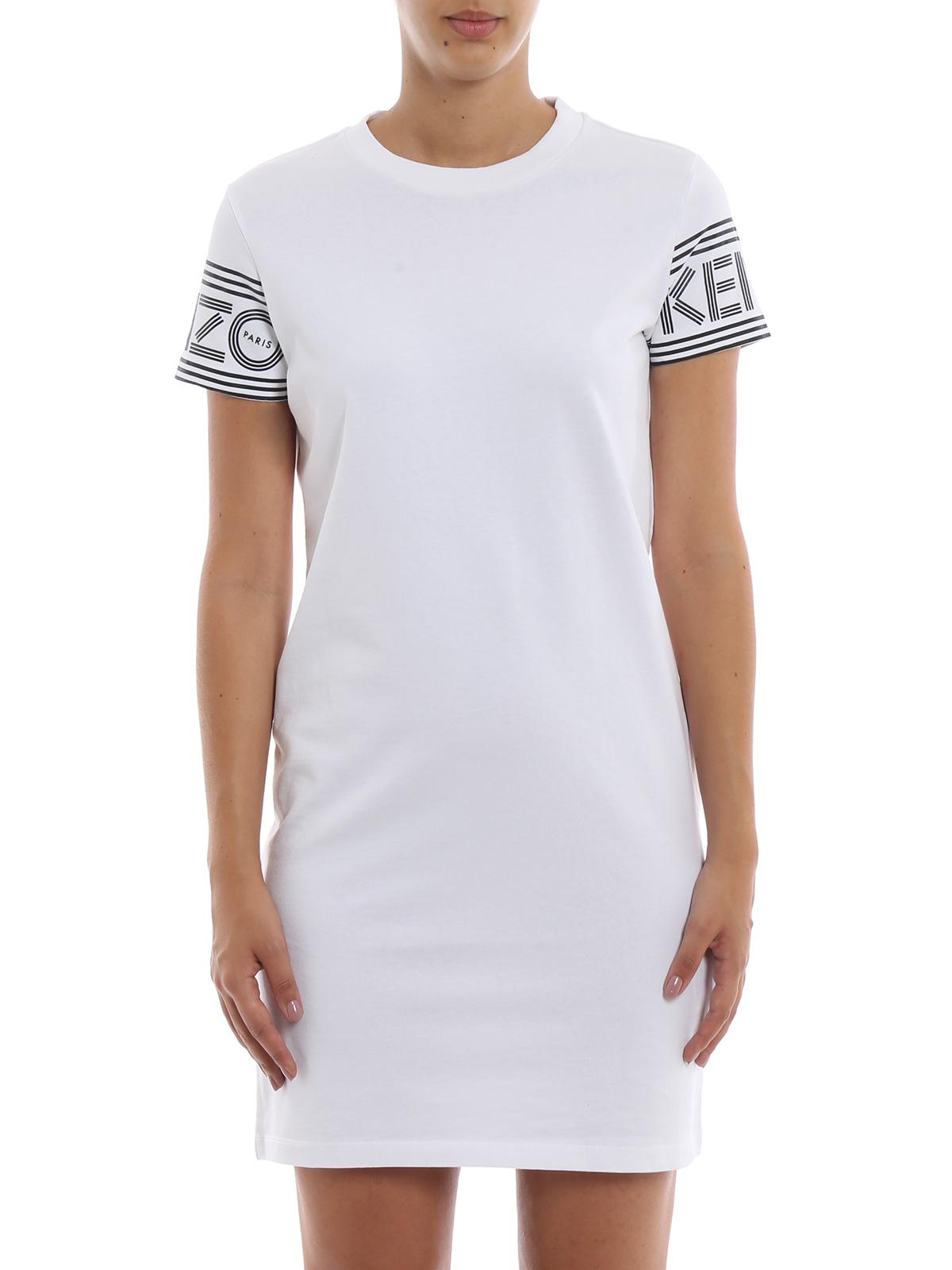 Kleider Kleid Kurzes Kenzo Weiß 02ro75698501 Kurze nkwP80O