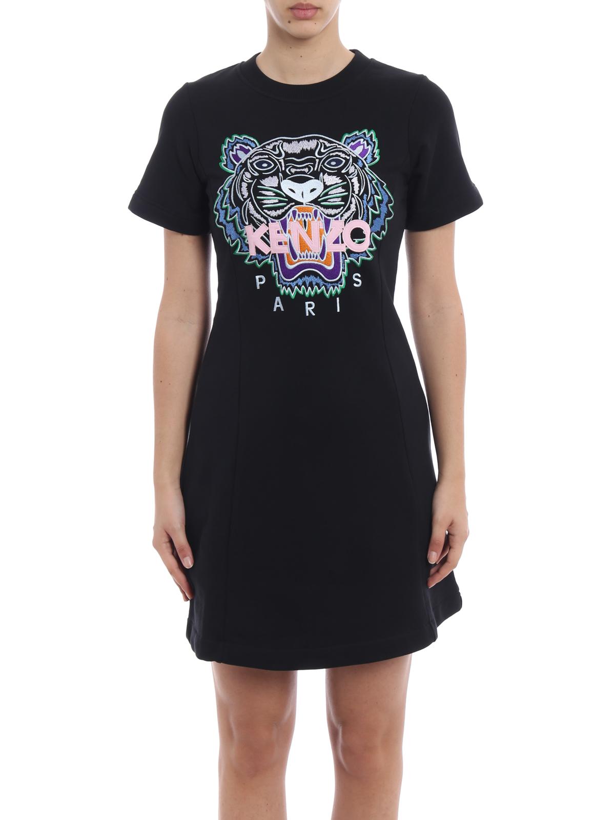13de5bde iKRIX KENZO: short dresses - Tiger embroidery flare summer dress