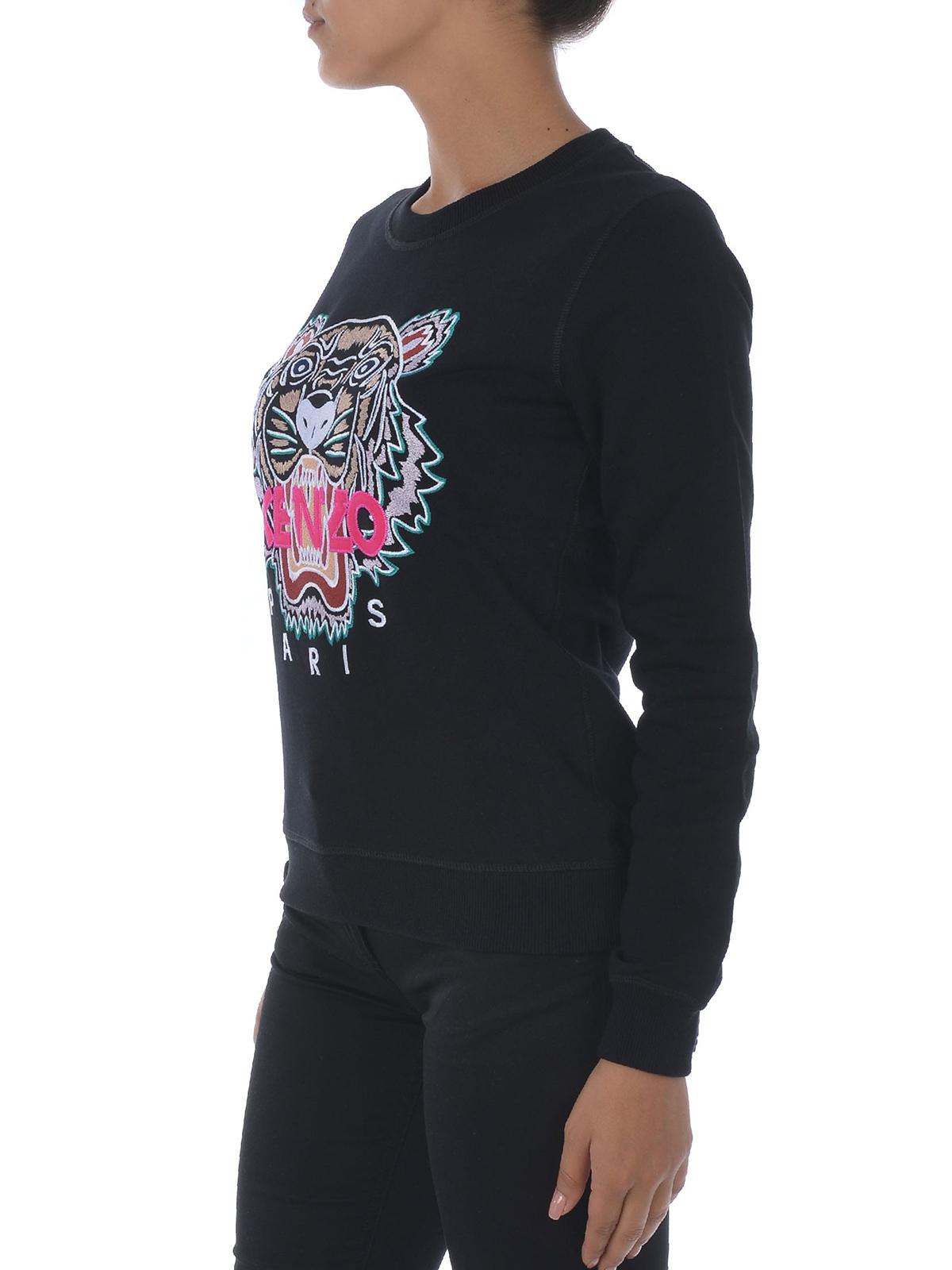 a37ff09ee iKRIX KENZO: Sweatshirts & Sweaters - Black Tiger embroidery sweatshirt