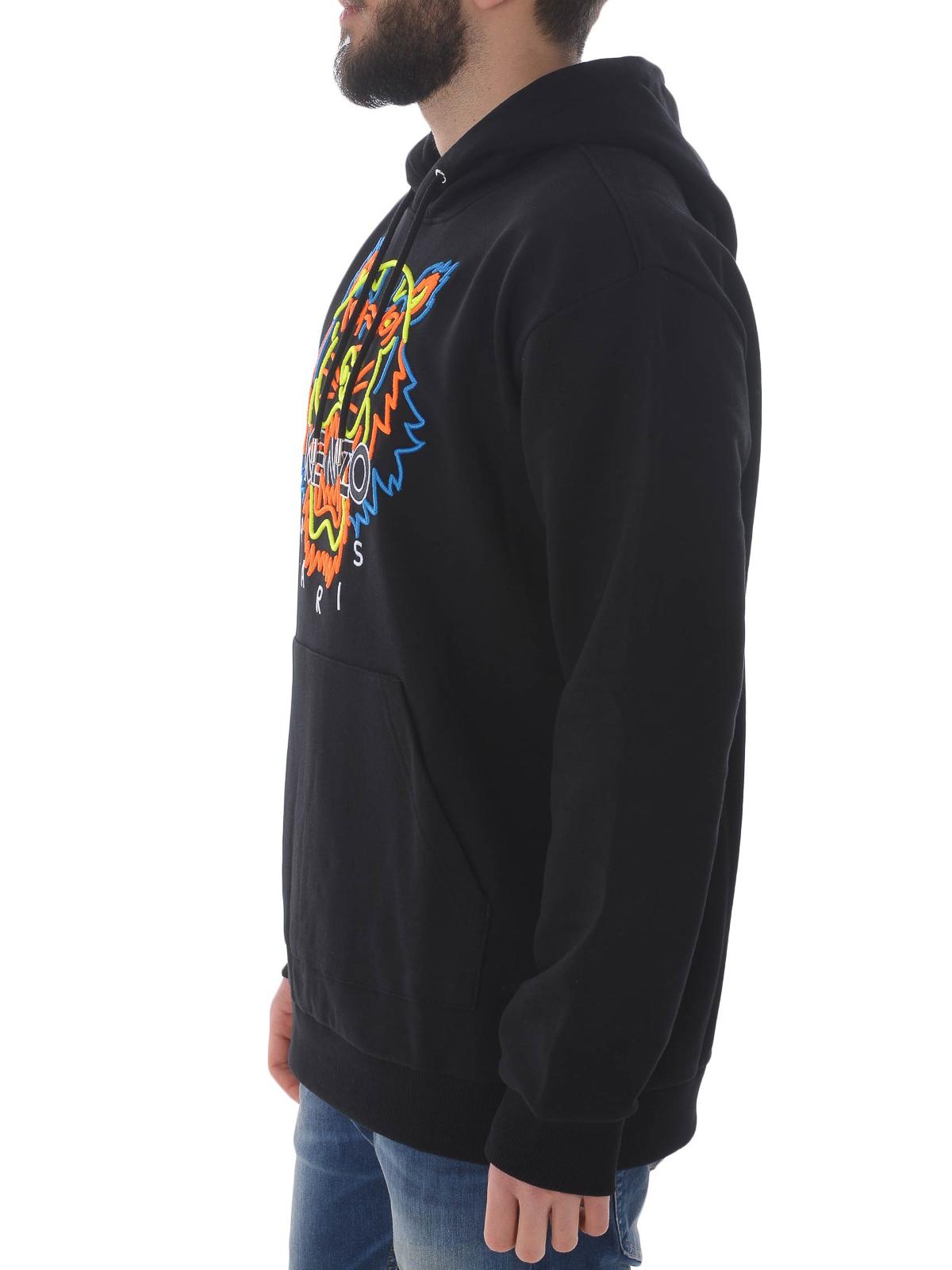 bdfb5942 Kenzo - Tiger multicolour embroidery cotton hoodie - Sweatshirts ...